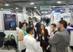 Dr. Su Das from our Medical Advisory Board explaining how it works at CES Eureka Park booth.